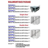 Jual Wallmount Rack Package ABBA-RACK Double Door 2