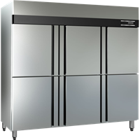 Upright Freezer 6 Doors Masema Supplies restaurants and cafes