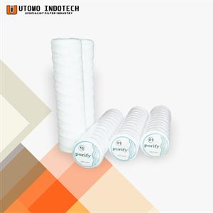 Liquid Filter Catridge Benang Cotton Yarn Core Tinsteel 10