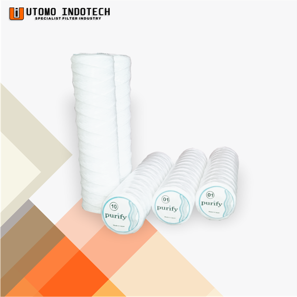 """Liquid Filter Catridge Benang Cotton Yarn Core Tinsteel 10"""""""