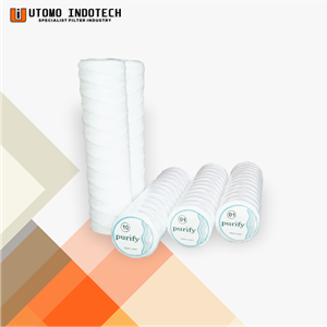 Liquid Filter Catridge Benang Cotton Yarn Core Tinsteel 40
