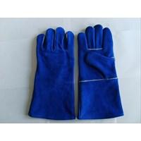 sarung tangan las biru