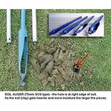 Hand Auger Soil 75mm x 1 meter