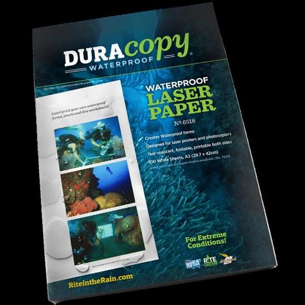 RR 6518 A3  DURACOPY LASER COPIER PAPER RITE IN THE RAIN