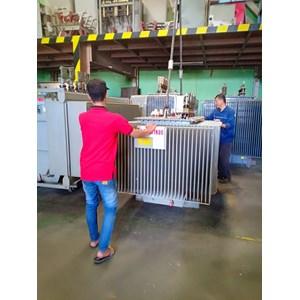 Trafo 3 Phase Trafindo 1250kVA - 18kV ~14kV - 400V - Dyn5 - utk. Tambak Udang
