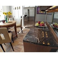 Meja Marmer Coklat Tua Ex China Meja Dapur Kitchen Wastafel Bar Pantry Murah 5