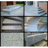 Black Spots On A White Granite Staircase Import (T1)