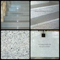 Black Spots On A White Granite Staircase Import (T2)