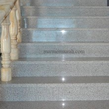 Tangga Granit Putih Bintik Hitam Import (T2)