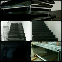 Plain Black Granite Stairway Import Ex. China (T3)