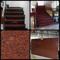 The Red Granite Staircase Plain Import Ex. India (T6)