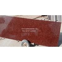 Jual Tangga Granit Merah Polos Import Ex.India (T6) 2
