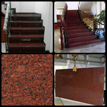 The Red Granite Staircase Plain Import Ex. India (
