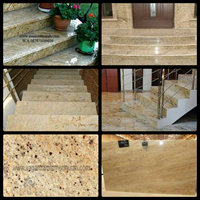 Yellow Granite Staircase Stairs Granite Jellow Import (T9) Ex India