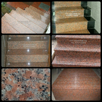 Orange Red Granite Staircase Import (T11)