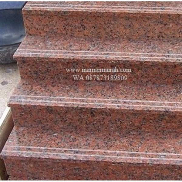 Tangga Granit Merah Orange Import (T11)