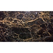 Marmer Nero Portoro Gold Marmer Hitam Corak Abstak Marmer Hitam Import Italy-Slab