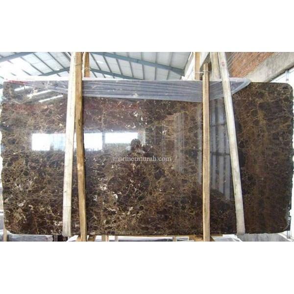 Marmer Dark Emperador Marmer Coklat Impor Spanyol-Slab