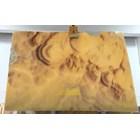 Marmer Onyx Putih Kuning Corak Gelombang Slab (O 189) Onyx Bubble Import 4