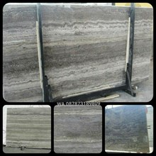 Marmer Travertine Grey Slab (TV 17) Travertine Imp