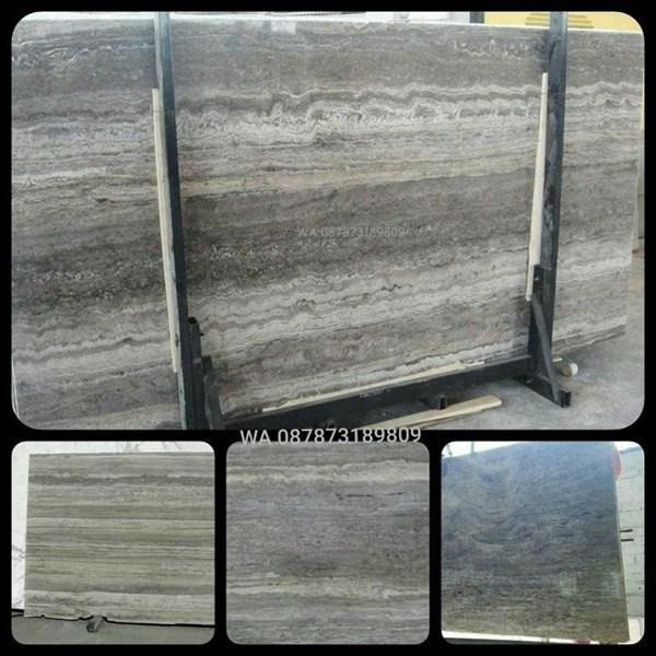 Marmer Travertine Grey Slab (TV 17) Travertine Import