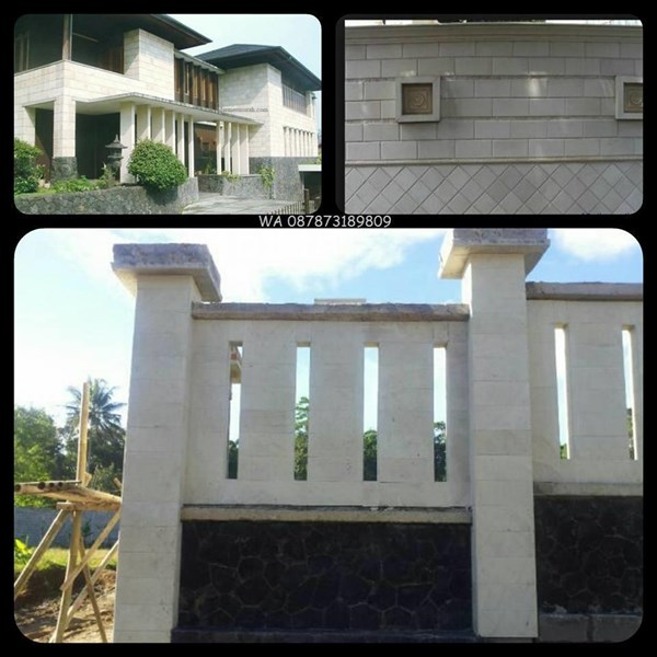 Batu Putih RTM Batu Bobos RTM Batu Alam Putih Lokal Indonesia