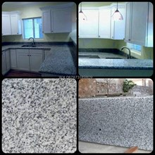 Table White Granite black spots Table Granite Bian
