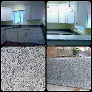 Meja Granit Putih Bintik Hitam Meja Granit Bianco Sardo (MG 261) Meja Granit Import