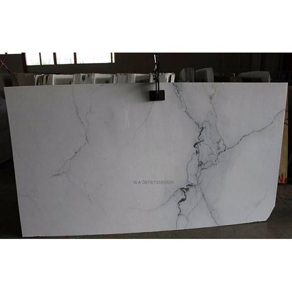 Marmer Statuario Classico Marmer Putih Import Italy Slab