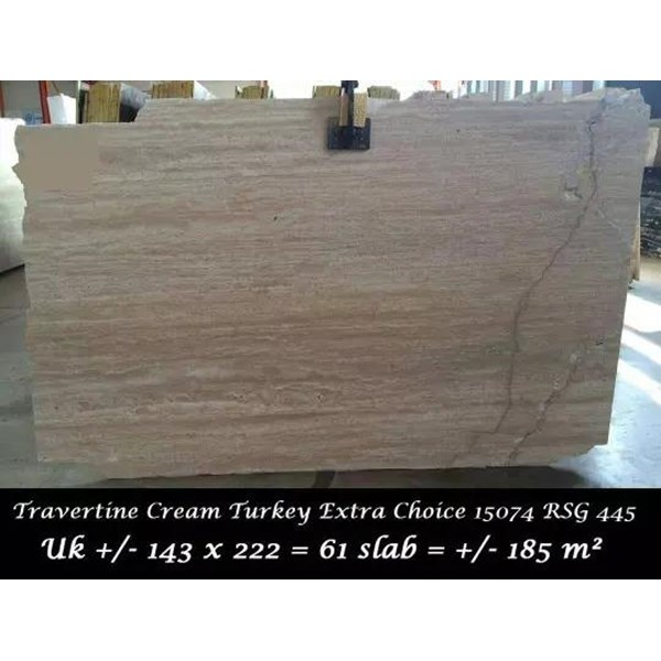 Travertine Slab Cuci Gudang Marmer Travertine Turky