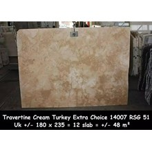 Travertin Slab Cuci Gudang Marmer Travertine