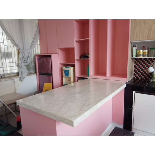 Meja Marmer Cream Ujung Pandang Meja Marmer Makasar Dapur Kitchen Wastafel Bar Pantry Counter