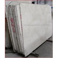 Distributor Marmer Ujung Pandang Marmer Makasar Cream Light Marmer Lokal-Slab 3