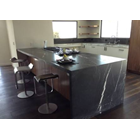 Black Marble Floor Table White Kitchen Table Kitchen Wash Basin Pantry Counter Bar 4
