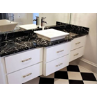 Black Marble Floor Table White Kitchen Table Kitchen Wash Basin Pantry Counter Bar 2