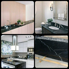 Black Marble Floor Table White Kitchen Table Kitchen Wash Basin Pantry Counter Bar 1