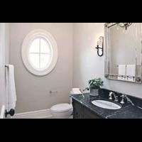 Meja Marmer Hitam Alur Putih Marmer Putih Import Meja Dapur Kitchen Set Murah 5