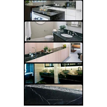 Meja Marmer Hitam Alur Putih Marmer Putih Import Meja Dapur Kitchen Set