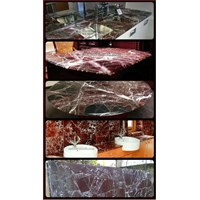 Meja Marmer Merah Import Ex Sapnyol Dapur Meja Kitchen Meja Wastafel Meja Bar Meja Pantry Meja Counter Dll