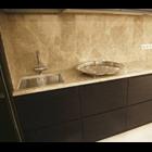Meja Marmer Coklat Muda Ex Turky Meja Dapur Kitchen Wastafel Bar Pantry Counter 5