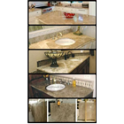 Meja Marmer Coklat Muda Ex Turky Meja Dapur Kitchen Wastafel Bar Pantry Counter 10