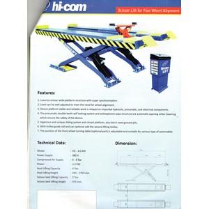 Scissor Lift Four Wheel Alignment