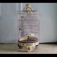 Sangkar Burung Ukir Untuk Pleci Bahan Akrilik Gambar Ruji Aluminium