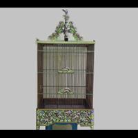 Sangkar Burung Ukir Tanpa Tiang Motif Tupai (Ready Stock)