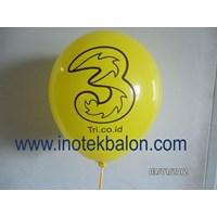 Jual Balon Promosi 12 Inch Print Sablon Dua Sisi 1 Warna