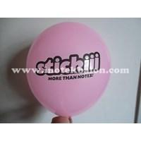 Jual Balon Promosi 10 Inch Printing Dua Sisi Sablon 1 Warna
