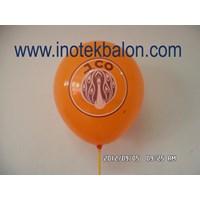 Jual Balon Promosi 12Inch Metallic Best Quality Printing Dua Sisi Cetak 1 Warna