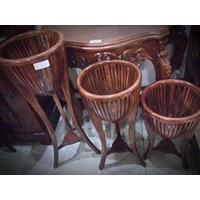 [Kerajinan Kayu] Set Pot Bunga 3pc (AW.Sep.16.15)