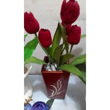 [Bunga Plastik Artificial ] Vas Keramik Tulip (Sep