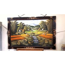 Seni Lukis dan Kaligrafi Sawah Bali (Feb.17.31.K)